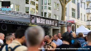 Stand auf dem Folsom Europe Straßenfest